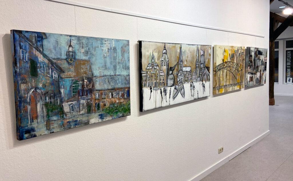 """Ausstellung """"Kunst erleben"""" 2019 mit Werken von Karin Greife"""