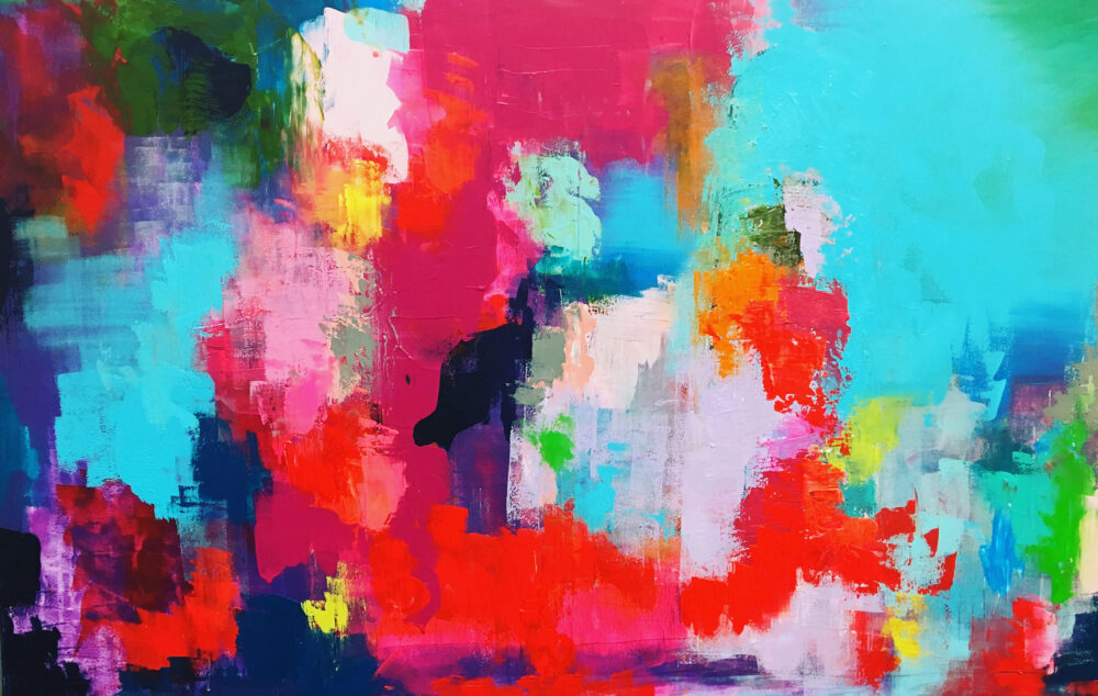 Abstraktes Gemälde Sommerurlaub