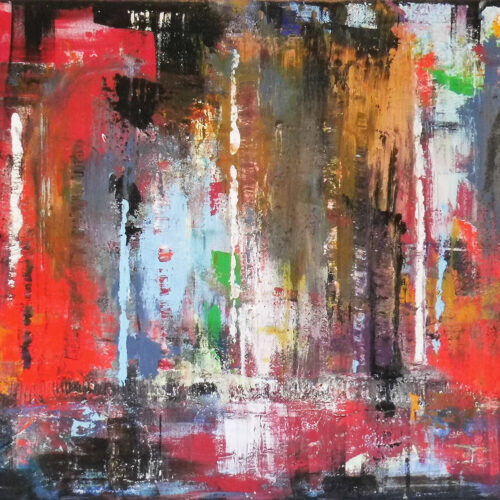 Abstraktes Gemälde Grossstadtdschungel