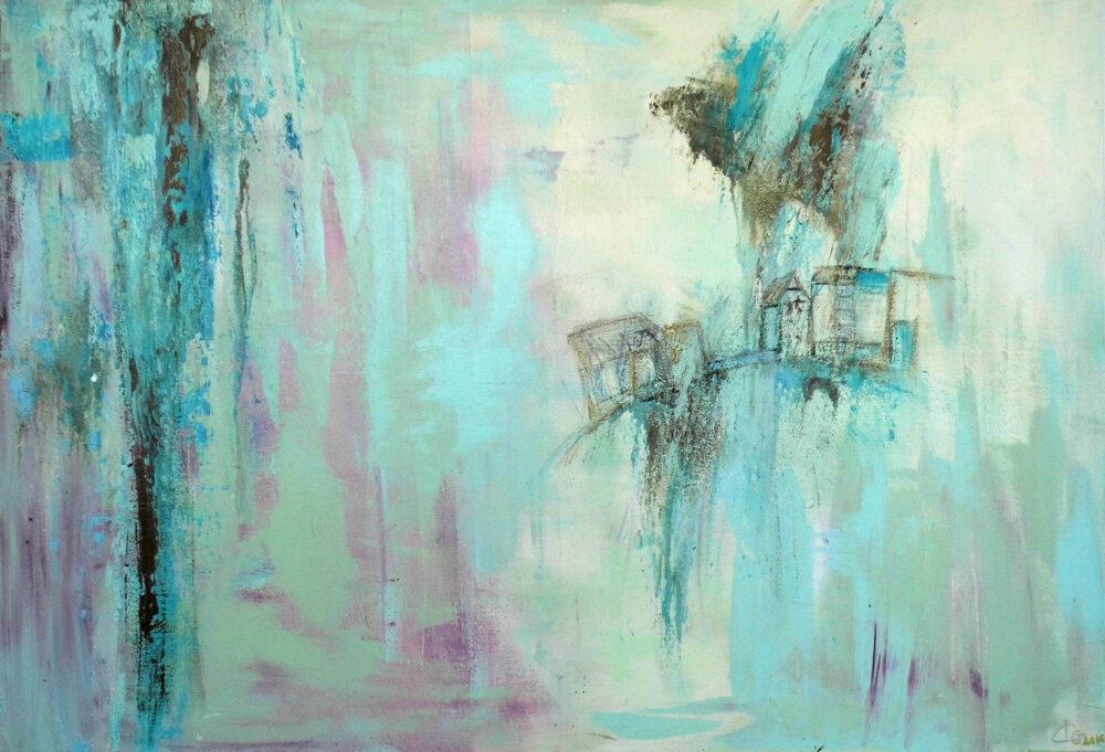 Abstraktes Gemälde Lüneburg Wasser