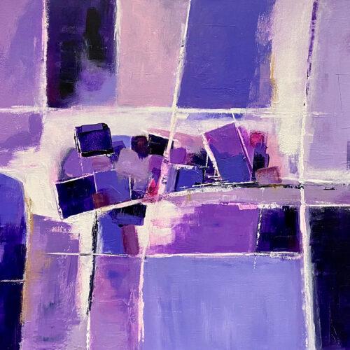 Abstraktes Gemälde Violet Spaces