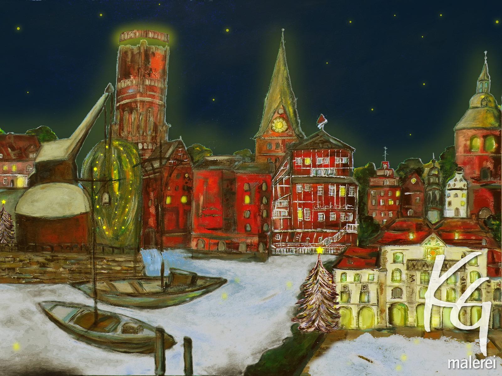 Weihnachtskarten mit Lüneburger Motiven