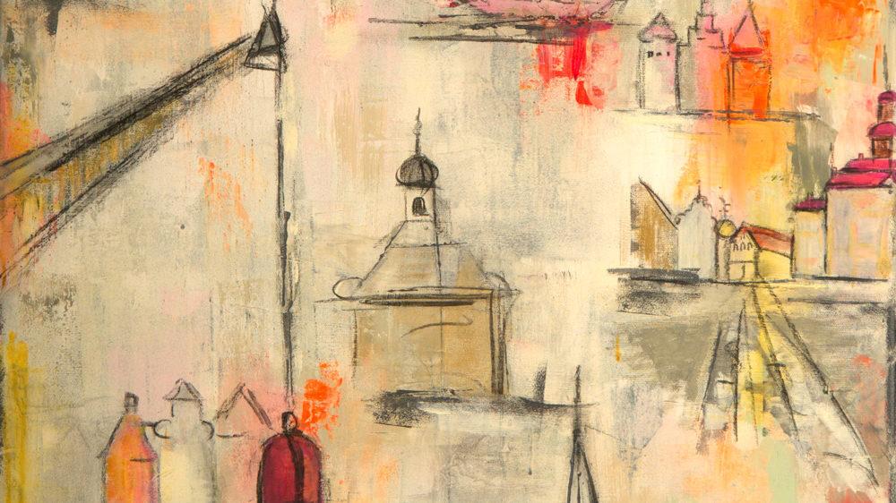 Gemälde mit dem Thema Lüneburg von Karin Greife