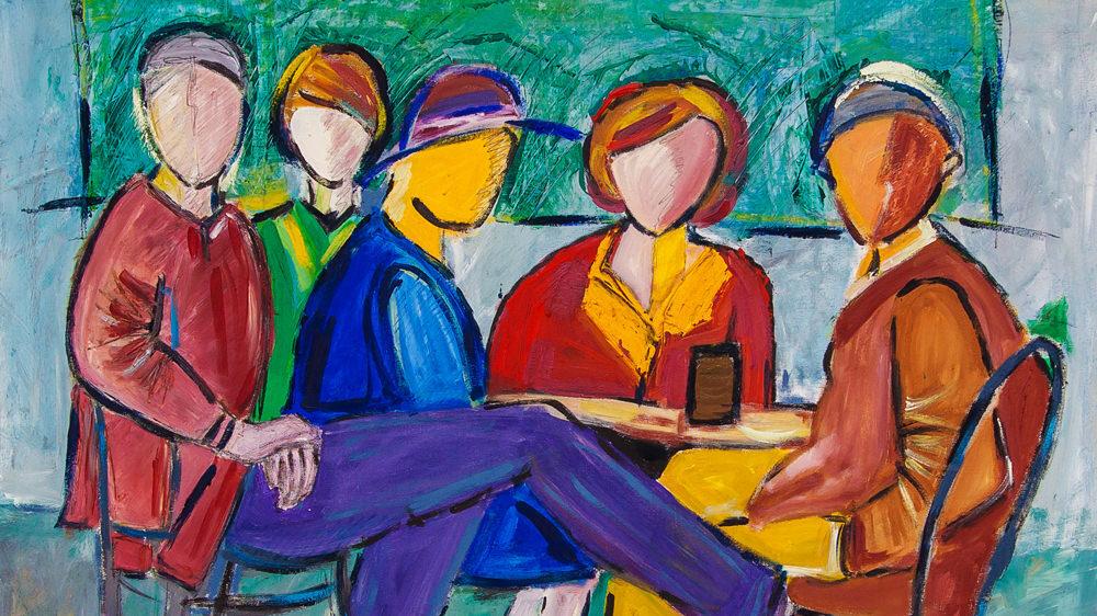 Gemälde mit dem Thema Menschen von Karin Greife