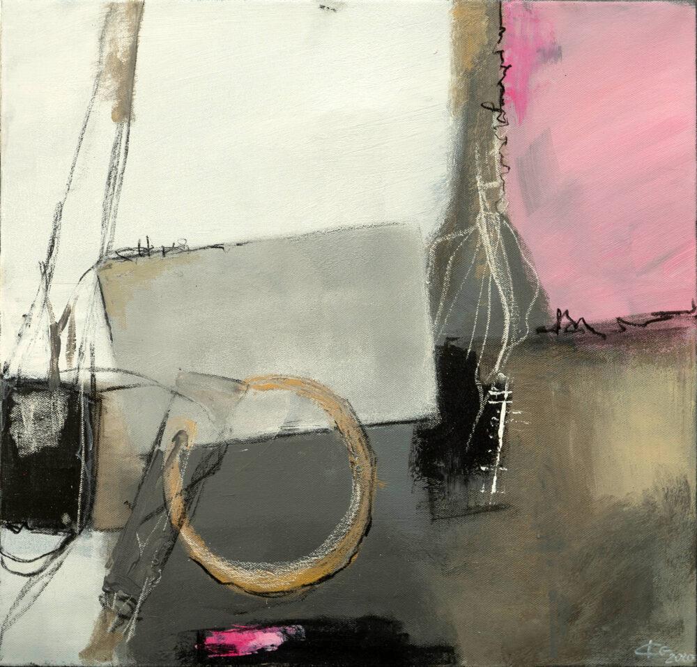 Abstraktes Gemälde Always With You - Love Story, abstrakte Malerei, Karin Greife, modern art, Kunst des 21. Jahrhunderts, abstract art, Modern Art