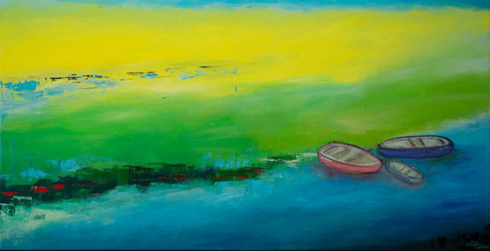 Gemälde Flusslandschaft von Karin Greife