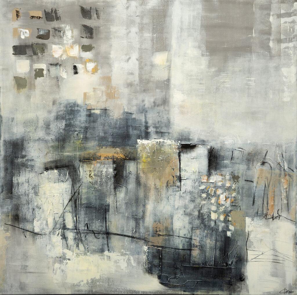 Abstraktes Gemälde Home