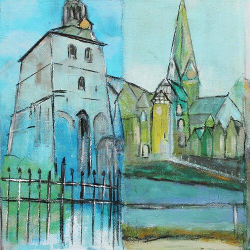 Gemälde Lüneburg Vier Jahrezeiten in Lüneburg