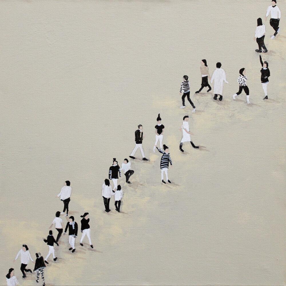 Gemälde Watt wandern