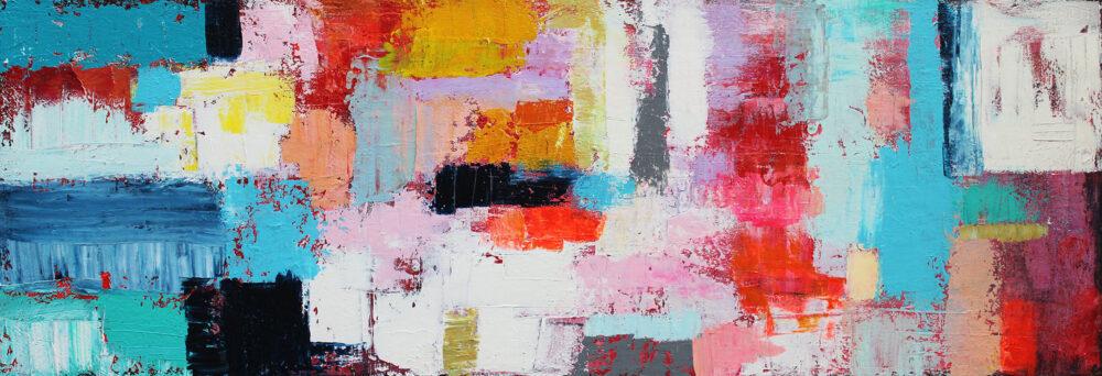 Gemälde Die Welt ist bunt