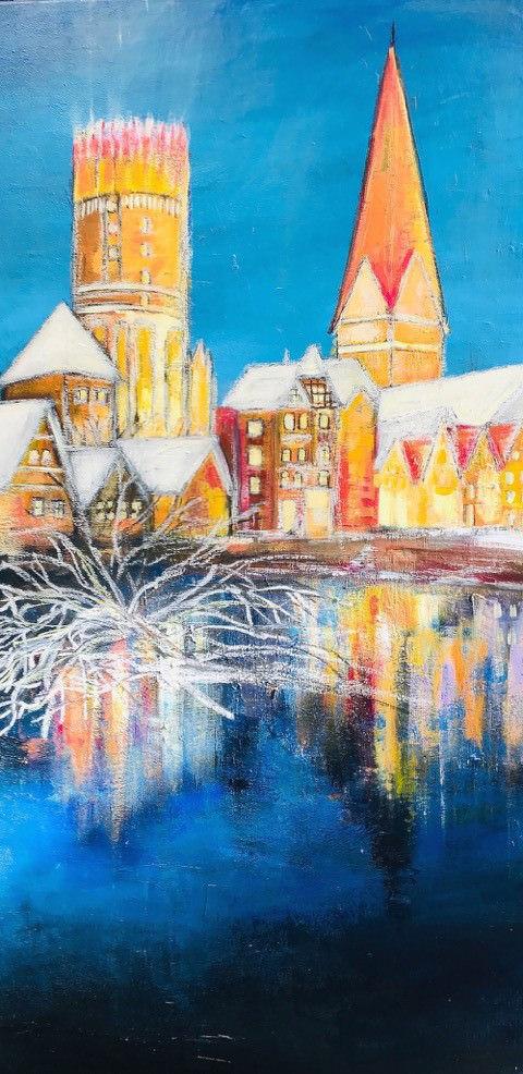 Gemälde Winterzeit an der Ilmenau