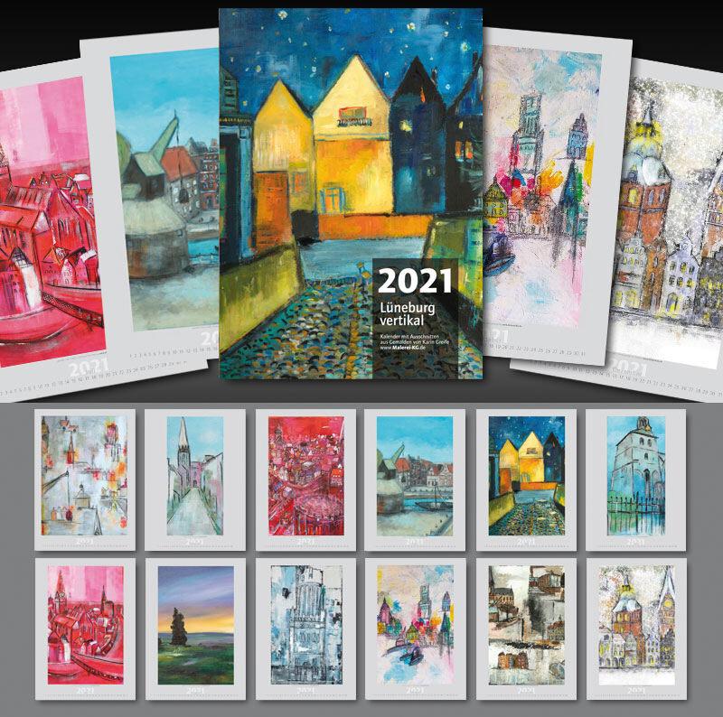 Kunstkalender Lüneburg Vertikal 2021