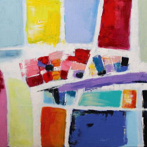 Gemälde Querschnitt (2020) 100 x 70 cm • Acryl auf Leinwand